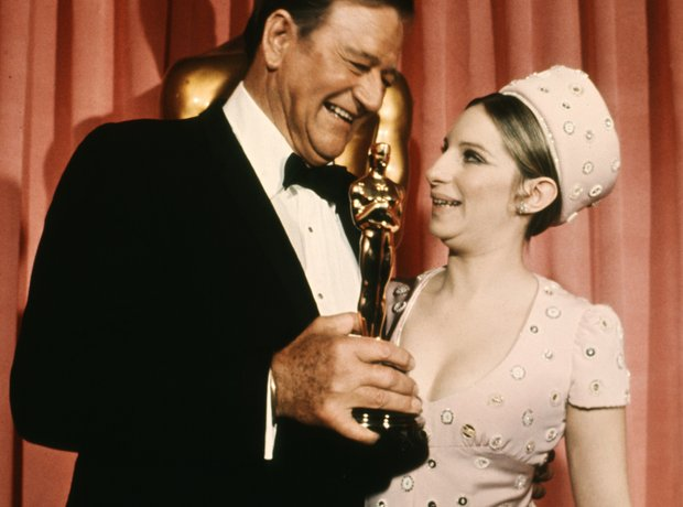 John Wayne and Barbra Streisand