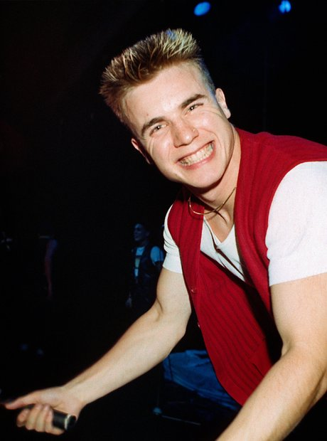 Gary Barlow of pop group Take That