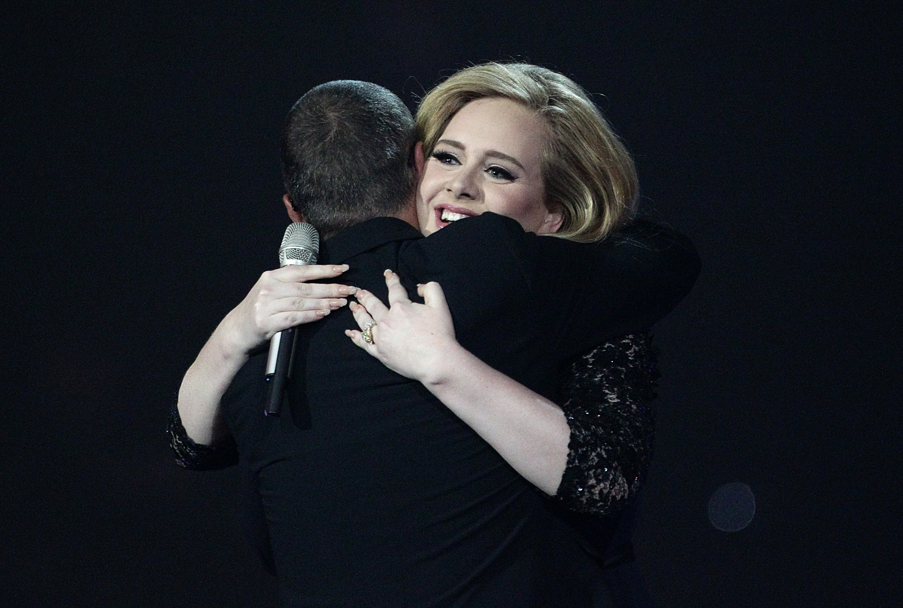 Adele and George Michael at the BRIT Awards 2012