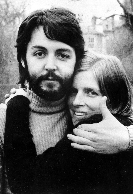 Paul McCartney with wife Linda