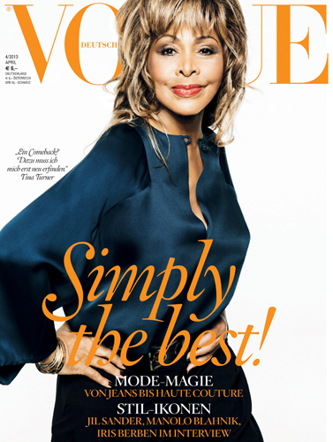 Tine Turner in Vogue Magazine 2013