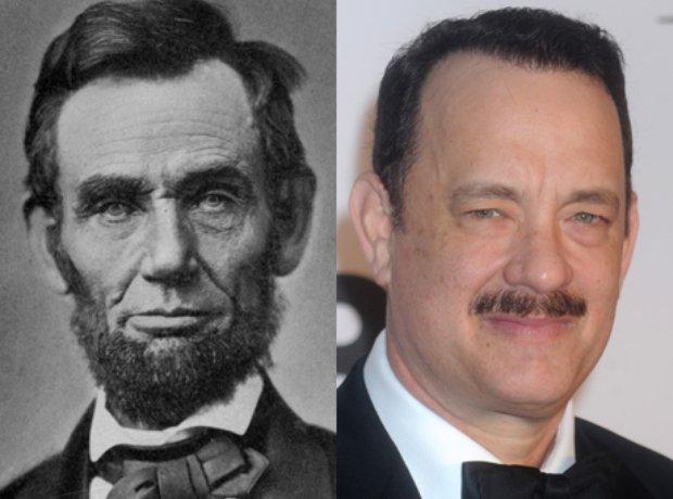 Abraham Lincoln and Tom Hanks