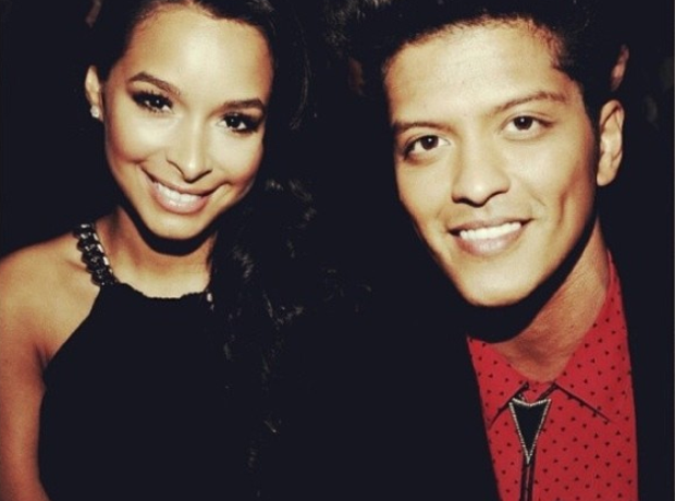 Bruno Mars and Girlfriend  Jessica Caban