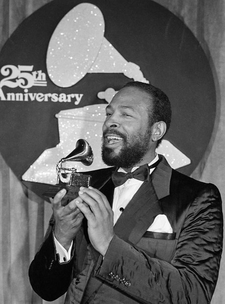 Marvin Gaye at the Grammy 1985