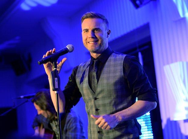 Gary Barlow performing live