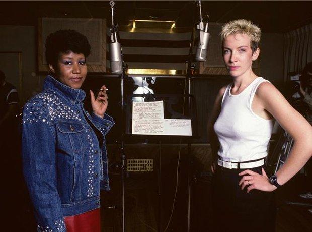 Aretha Fraklin and Annie Lennox