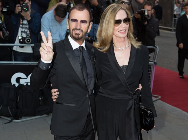 Ringo Starr and Barbara Bach arrive at the GQ Men