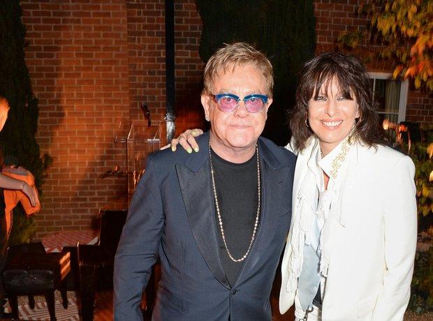 Sir Elton John and Chrissie Hynde