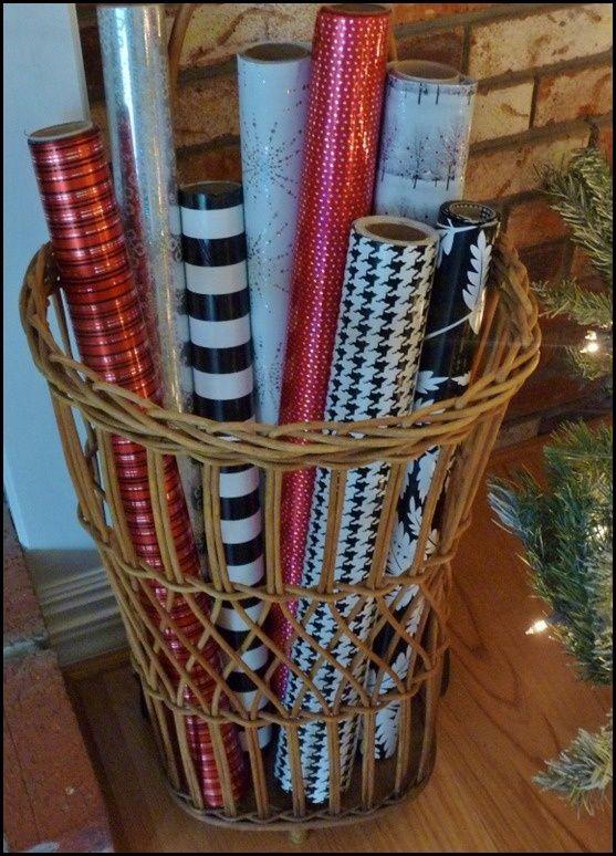 Christmas Wrapping Storage