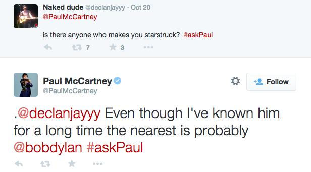 Paul McCartney Twitter Chat