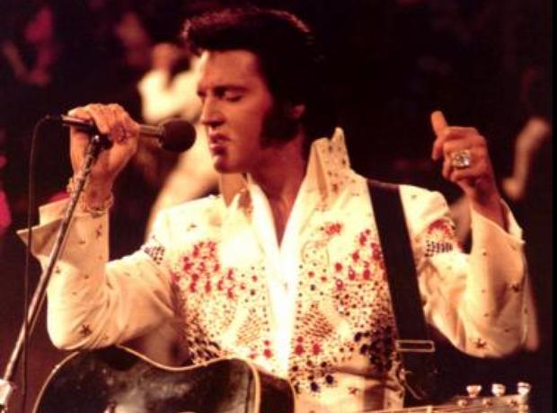 Elvis in Aloha catsuit