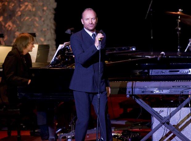 Sting performing
