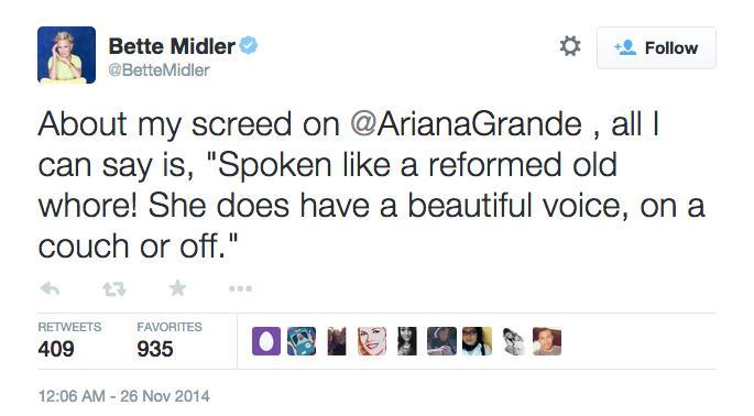 Bette Midler Twitter