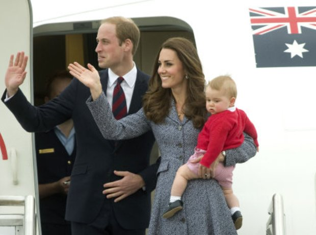 The Duke and Duchess of Cambridge and Prince Georg