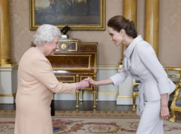 The Queen with Angelina Jolie