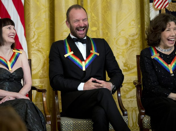 Sting receives the Kennedy Honors