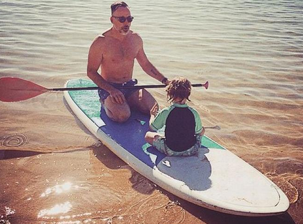 David Furnish and son