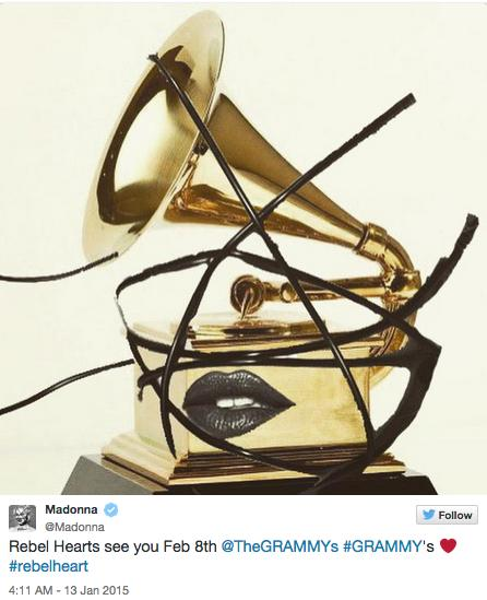 Madonna confirms Grammy performance on Twitter