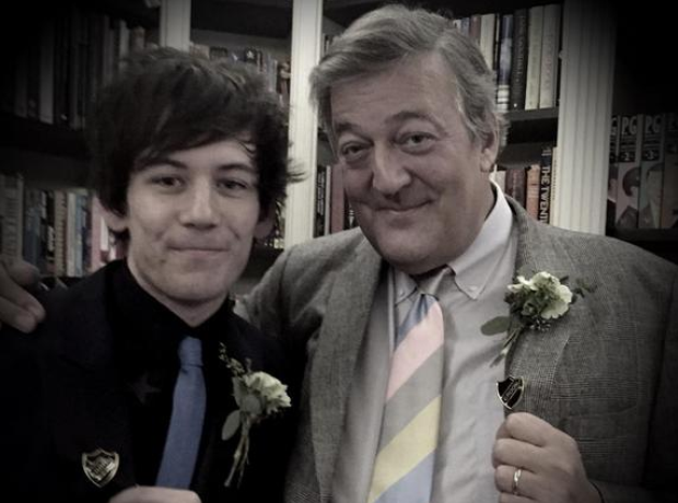 Stephen Fry and husband Elliott Spencer