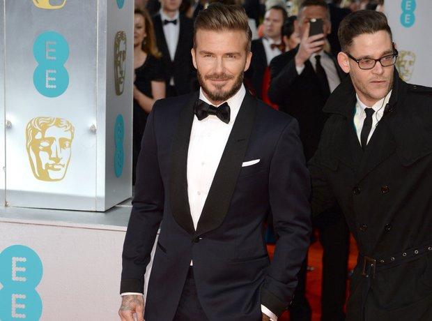 David Beckham at the Bafta Awards 2015