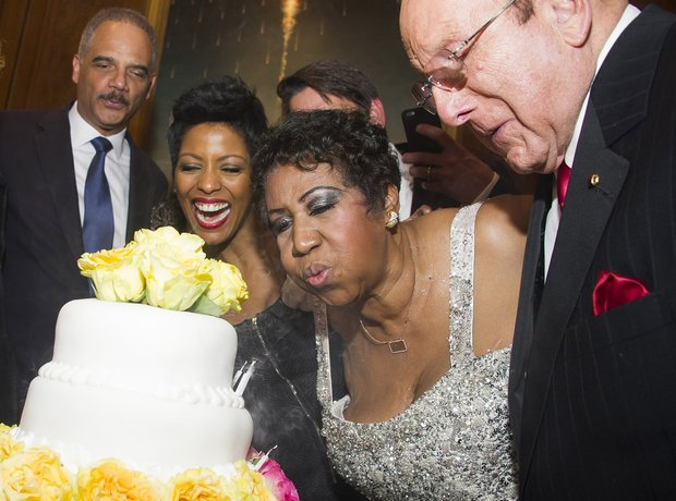 Aretha Franklin celebrates her 73rd birthday