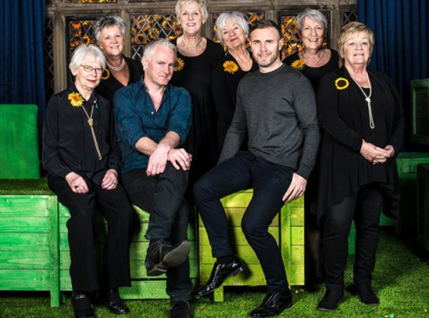Gary Barlow and the Calendar Girls