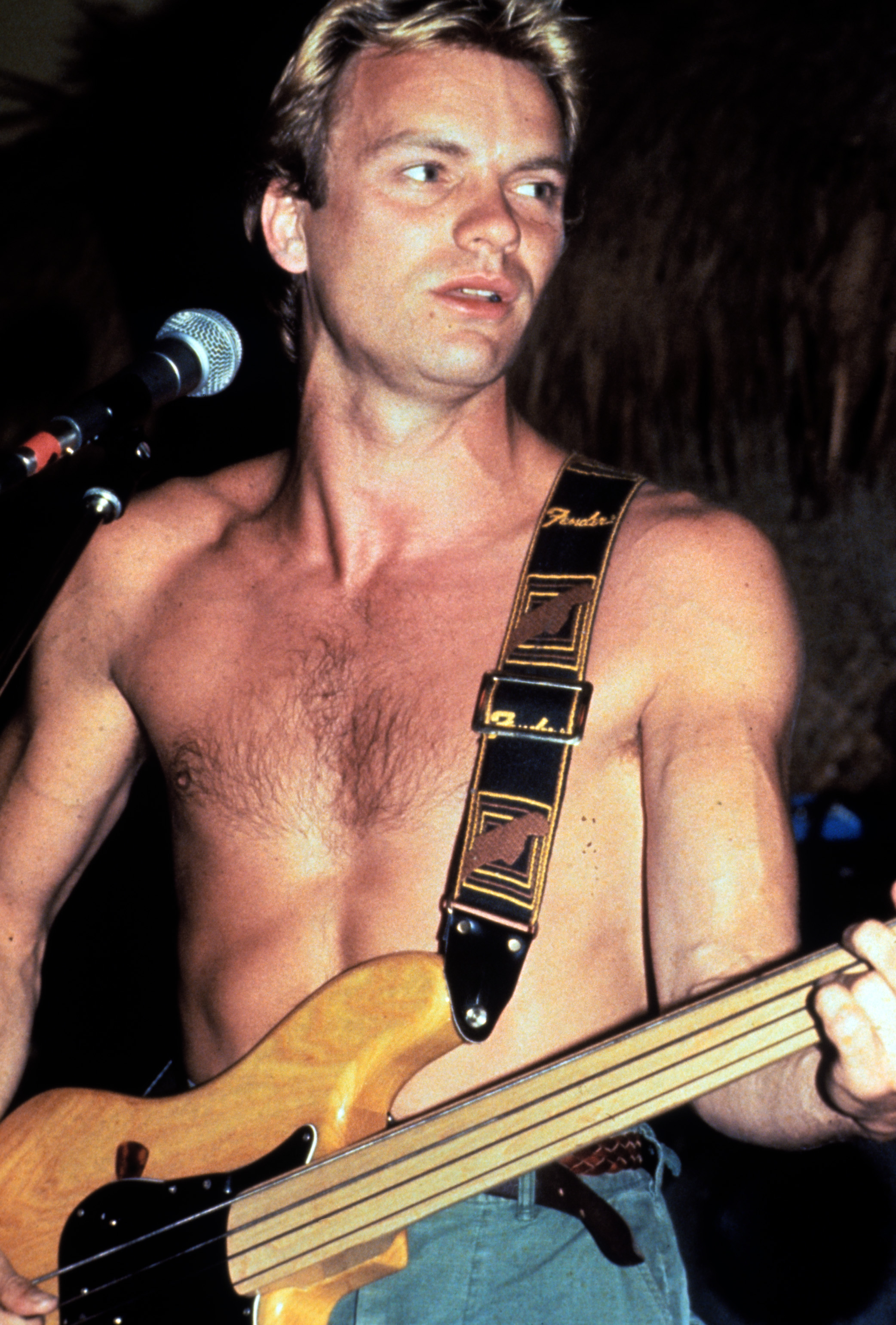 Sting playing the guitar