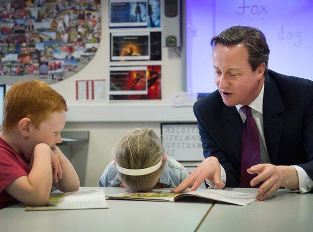 David Cameron in Westhoughton school