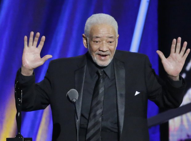 Bill Withers speaks at the Rock and Roll Hall of Fame