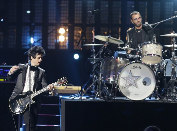 Green Day and Ringo Starr Rock 'N' Roll Hall Of Fa