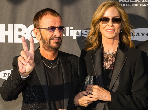Ringo Starr and Barbara Bockman on the red carpet