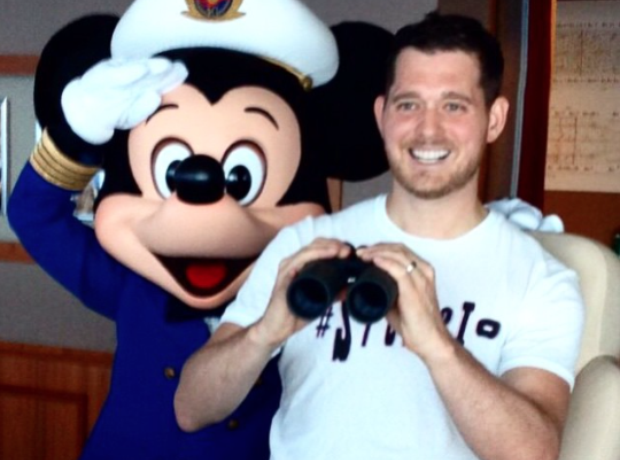 Michael Buble with Mickey Mouse