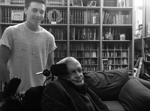 Brooklyn Beckham and Stephen Hawking