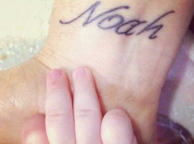 Michael Buble son tattoo