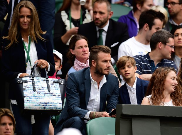 Kim Murray David Beckham Wimbledon