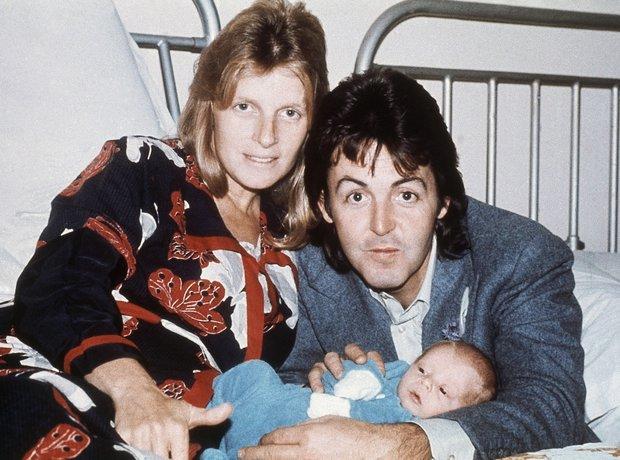 Paul McCartney and son James.