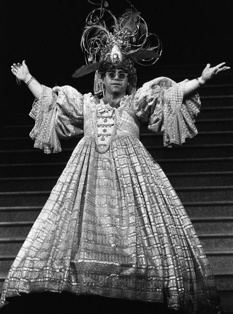 Elton John Wearing Dress