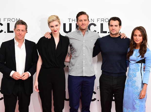 Hugh Grant at film premiere