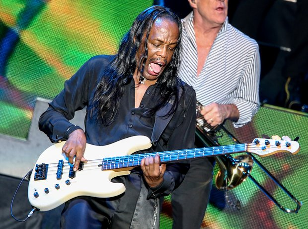 Verdine White performs on stage