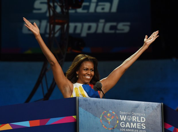 Michelle Obama Special Olympics