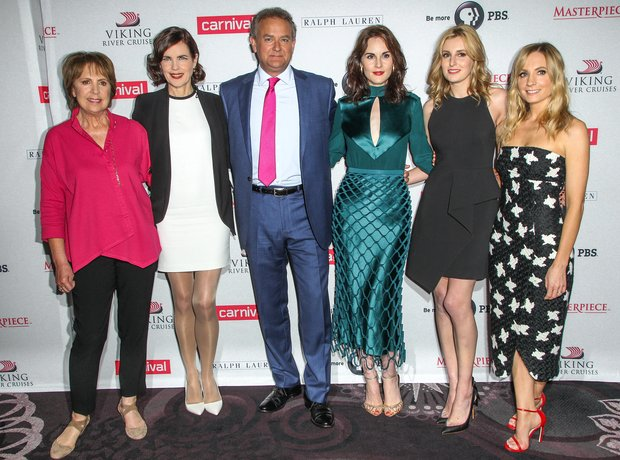 Cast of Downton Abbey August 2015