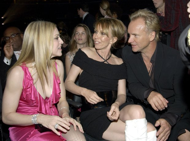 Madonna, Trudie and Sting