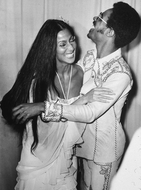 Stevie Wonder and Cher at Grammies Grammy Awards