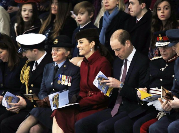 Catherine And William visit The RAF in Wales