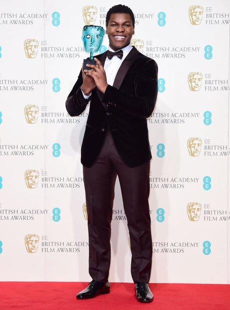 John Boyega at the Bafta Awards 2016