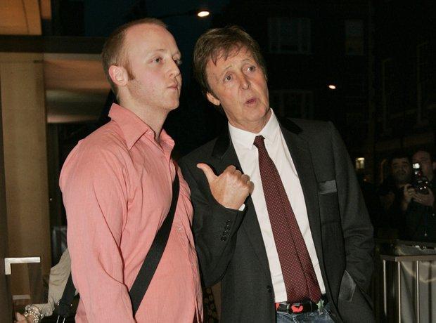 Paul and James McCartney