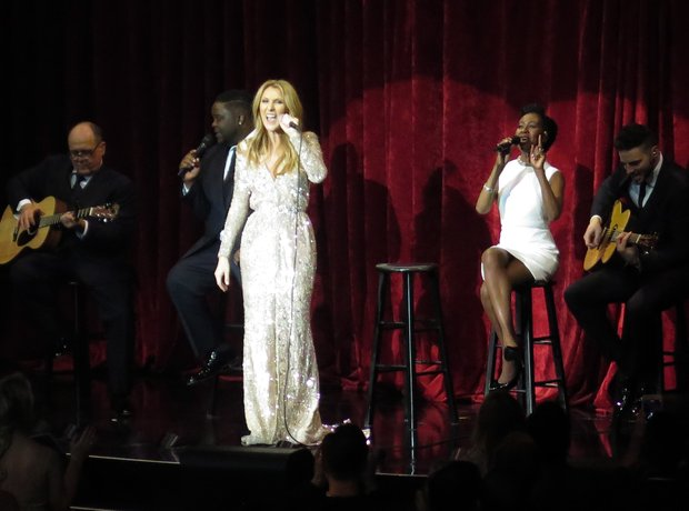 Celine Dion perfoming in Las Vegas