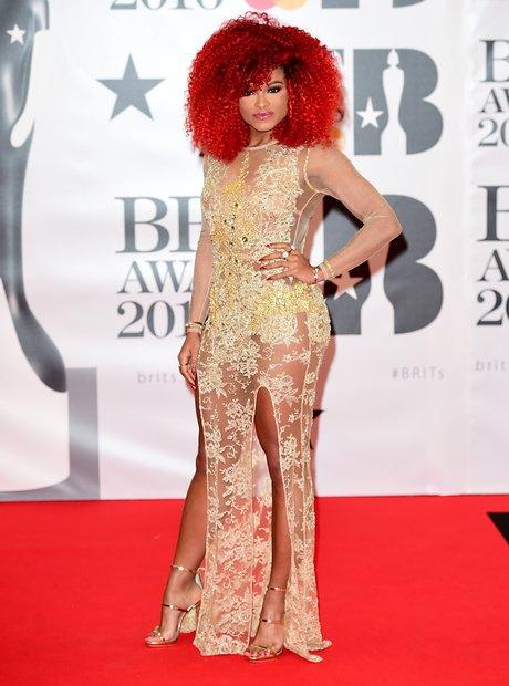 Fleur East Red Carpet Arrivals Brit Awards 2016