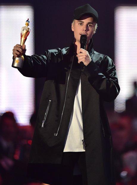 Justin Bieber Best International Male Award The Br