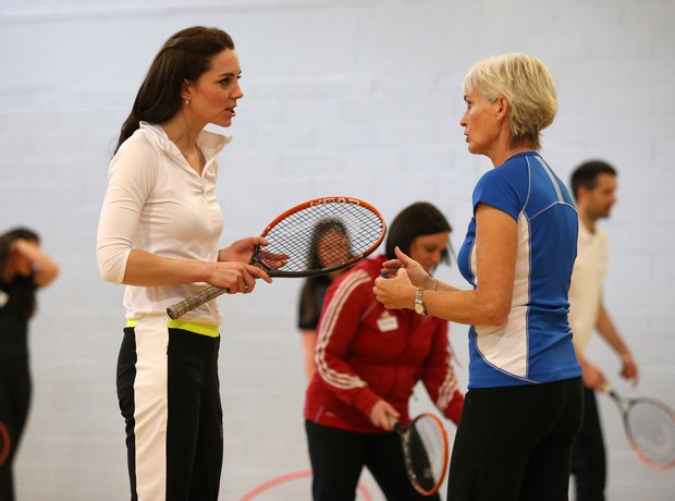 Kate gets coached by Judy Murray